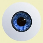 Round Paperweight Eyes - Blue